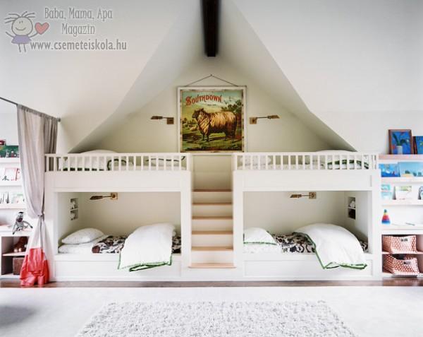 Emeletes ágy variációk gyerekszobába