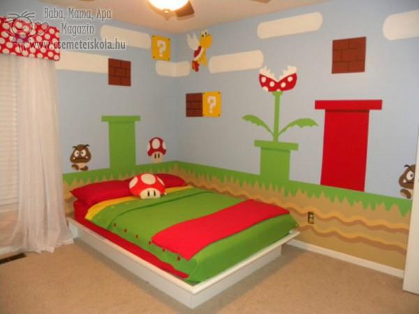 Super Mario gyerekszoba