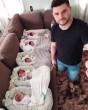 Ötös ikrek, apukával