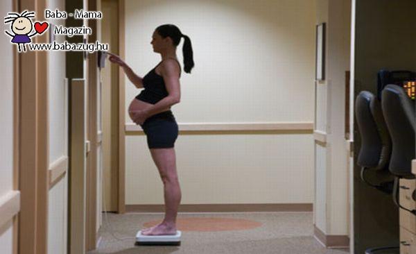 A terhesség alatti túlzott súlygyarapodással érdemes vigyázni